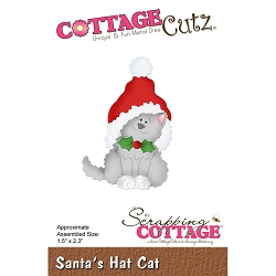 Cottage Cutz - Die - Santa's Hat Cat