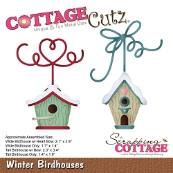 Cottage Cutz - Die - Winter Birdhouses