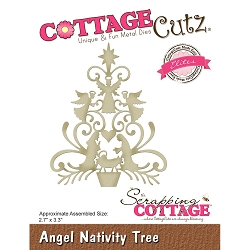 Cottage Cutz - Die - Angel Nativity Tree (Elite)