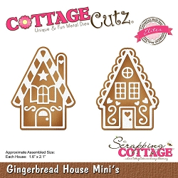 Cottage Cutz - Die - Gingerbread House Minis (Elite)