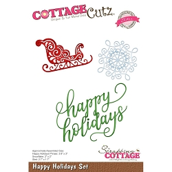 Cottage Cutz - Die - Happy Holidays Set (Elite)