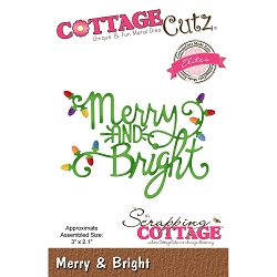Cottage Cutz - Die - Merry & Bright (Elite)
