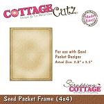 Cottage Cutz-4x4 Dies-Seed Packet Frame