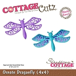 Cottage Cutz-Gnome Series-4x4 Die-Ornate Dragonfly