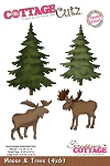 Cottage Cutz Die - Moose & Trees