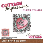 Cottage Cutz-Clear Stamp- Candy Heart