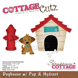 Cottage Cutz - Die - Doghouse w/ Pup & Hydrant