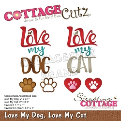 Cottage Cutz - Die - Love My Dog, Love My Cat