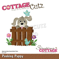 Cottage Cutz - Die - Peeking Puppy