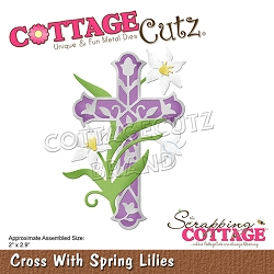 Cottage Cutz - Die - Cross With Spring Lilies