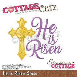 Cottage Cutz - Die - He Is Risen Cross