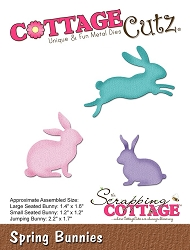 Cottage Cutz - Die - Spring Bunnies