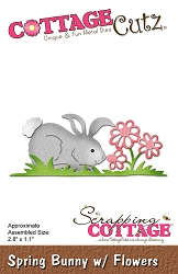 Cottage Cutz - Die - Spring Bunny with Flowers