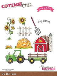 Cottage Cutz - Clear Stamp & Die Set - On the Farm
