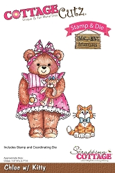 Cottage Cutz - Clear Stamp & Die Set - Chloe with Kitty