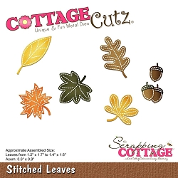 Cottage Cutz - Die - Stitched Leaves