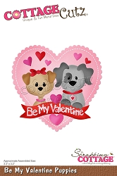 Cottage Cutz - Die - Be My Valentine Puppies