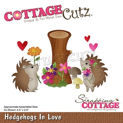 Cottage Cutz - Die - Hedgehogs In Love