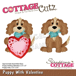 Cottage Cutz - Die - Puppy With Valentine