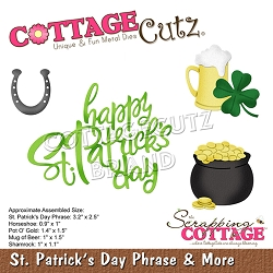 Cottage Cutz - Die - St. Patrick's Day Phrase & More