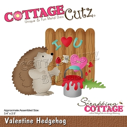 Cottage Cutz - Die - Valentine Hedgehog