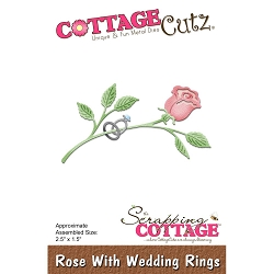Cottage Cutz - Die - Rose With Wedding Rings