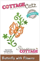 Cottage Cutz - Petites Die - Butterfly with Flowers