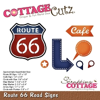 Cottage Cutz - Die - Route 66 Road Signs