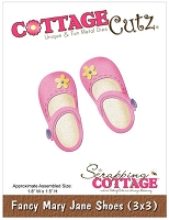 Cottage Cutz - 3x3 Die - Fancy Mary Jane Shoes