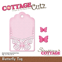 Cottage Cutz - Die - Butterfly Tag