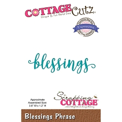 Cottage Cutz - Die - Blessings