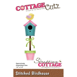 Cottage Cutz - Die - Stitched Birdhouse