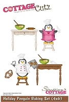 Cottage Cutz - Die - Holiday Penguin Baking
