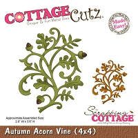 Cottage Cutz - Die - Autumn Acorn Vine