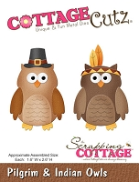 Cottage Cutz - Die - Pilgrim & Indian Owls
