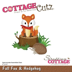 Cottage Cutz - Die - Fall Fox & Hedgehog