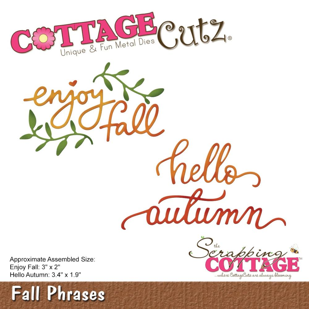 Cottage Cutz Die Fall Phrases