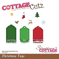 Cottage Cutz - Die - Christmas Tags