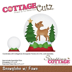 Cottage Cutz - Die - Snowglobe With Fawn