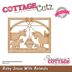 Cottage Cutz - Die - Baby Jesus With Animals(Elite)