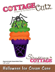 Cottage Cutz - Die - Halloween Ice Cream Cone