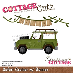 Cottage Cutz - Die - Safari Cruiser w/ Banner