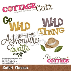 Cottage Cutz - Die - Safari Phrases