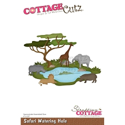 Cottage Cutz - Die - Safari Watering Hole