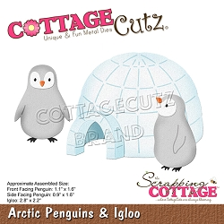 Cottage Cutz - Die - Arctic Penguins & Igloo