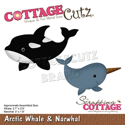Cottage Cutz - Die - Arctic Whale & Narwhal