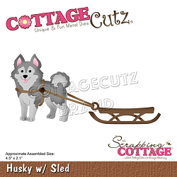 Cottage Cutz - Die - Husky with Sled