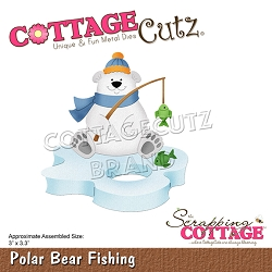 Cottage Cutz - Die - Polar Bear Fishing