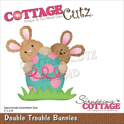 Cottage Cutz - Die - Double Trouble Bunnies
