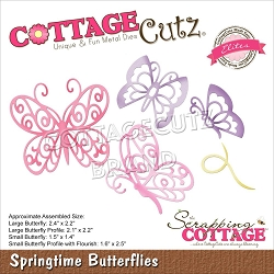 Cottage Cutz - Die - Springtime Butterflies (Elites)